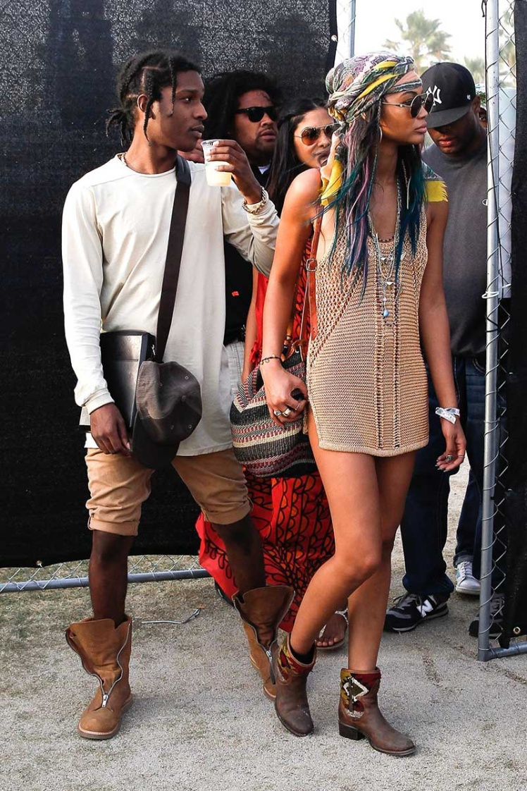 Chanel Iman y Asap Rocky